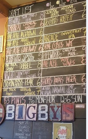 Rolling Meadows, IL: pic of the tap list on 9/21/16