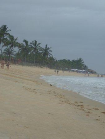 Транкосо: En la playa, día nublado.