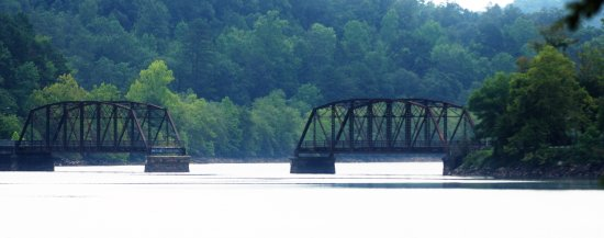 Long Creek, SC: BOTH SECTIONS OF THE BRIDGE - YOU CAN WALK OR FISH ON THE BRIDGE