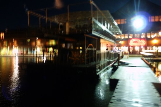Breezy Belle Cruises: The night before our tour of Pelican Lake, I took some night time photos of the Breezy Belle