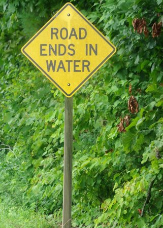 Long Creek, Carolina del Sur: ROAD ENDS IN WATER - YOU GOTTA LOVE IT!
