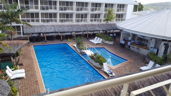 The Melanesian Port Vila: Most rooms face the pool