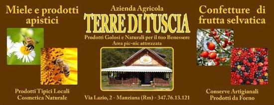Manziana, Itália: Striscione