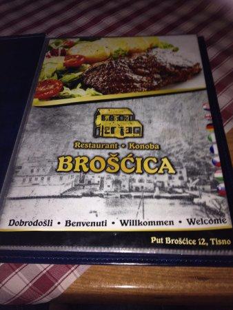 Tisno, Kroatien: Menu