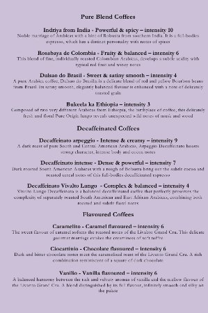 Ringwood, UK: Coffee Menu continued