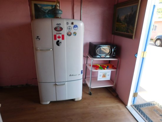 Blue Swallow Motel: Fridge and microwave for all rooms