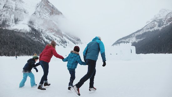 Banff, Canada: Ice skating on Lake Louise