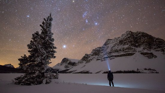 Banff, Canada: Night sky at Bow Lake