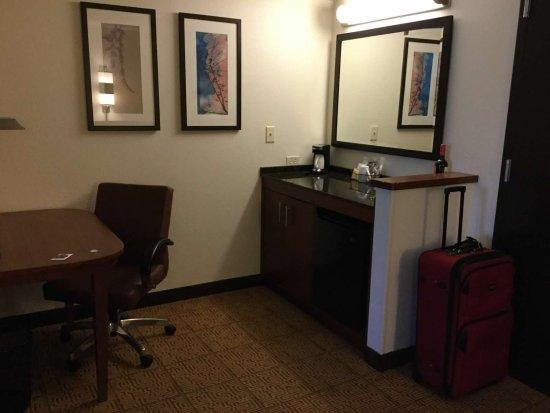 Uncasville, CT: kitchen area, fridge and storage cabinet