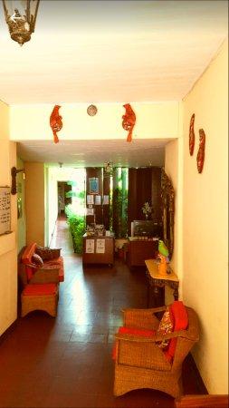 Área de recepción- Hostal Guardabarranco