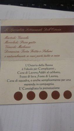 Casalmaggiore, Ιταλία: Osteria Della Bassa