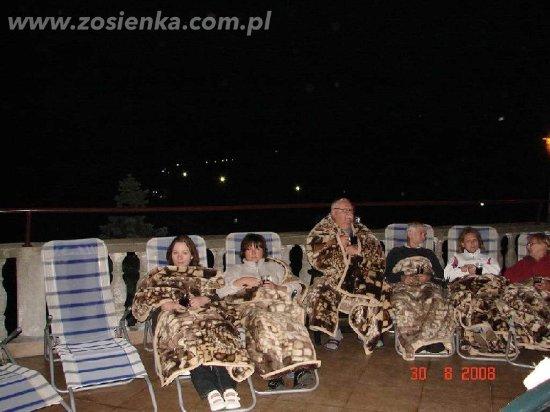 Muszyna, Polen: Wieczór na tarasie