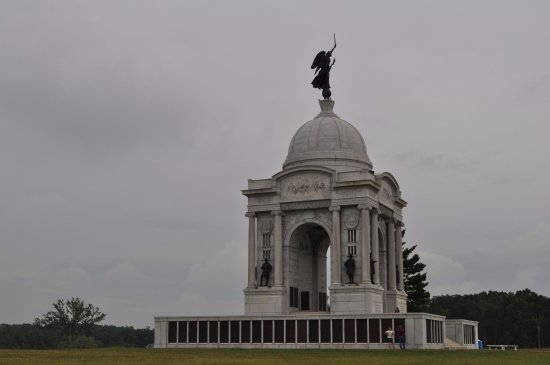 Gettysburg National Military Park: Historic battlefield marker