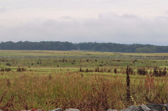 Gettysburg National Military Park: The view from the Union line for Pickett's Charge
