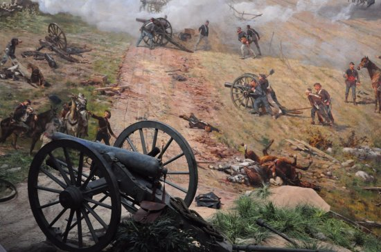 Gettysburg National Military Park: A shot of the Cyclorama
