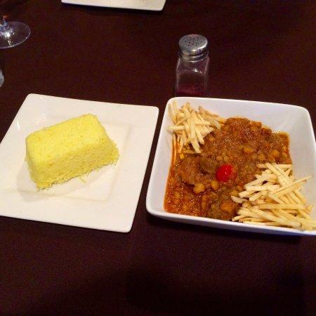 Cottonwood, Αριζόνα: Gheime with lamb & saffron rice
