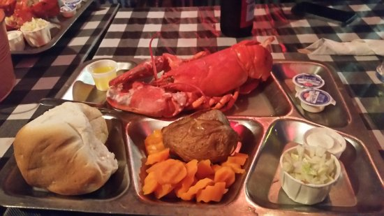 Pictou, Canada: My lobster meal.