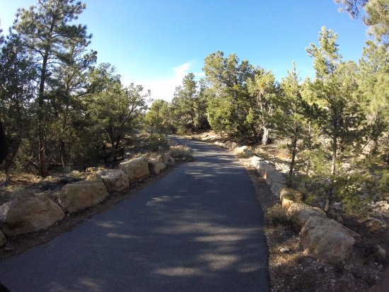 Mather Campground : Trail along the Rim