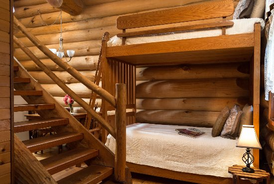 Awesome Log Cabin Bunk Beds
