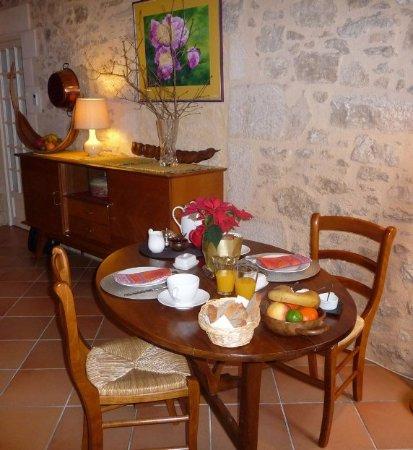 Ruch, Francia: Petit déjeuner en B&B