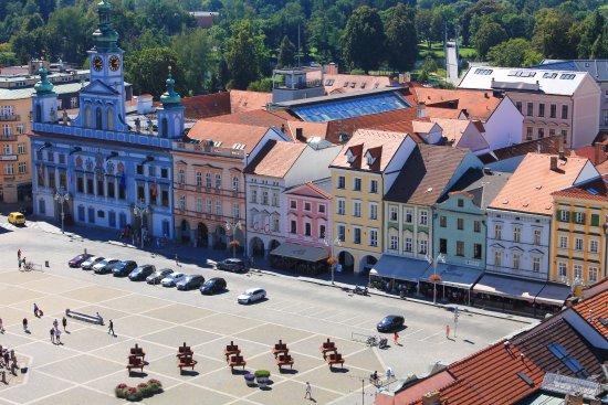 Ceske Budejovice, República Checa: Blick auf den Marktplatz von Budweis