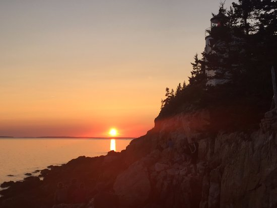 Sunset at Bass Harbor Lighthouse - get there early and sit as far out on the rocks for best view