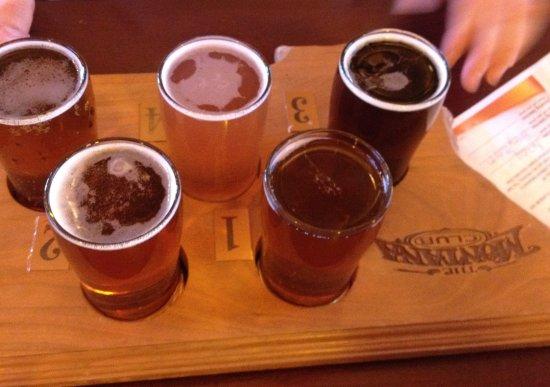 "The Montana Club Restaurant - Butte: ""Flight"" of Montana brewed beers"