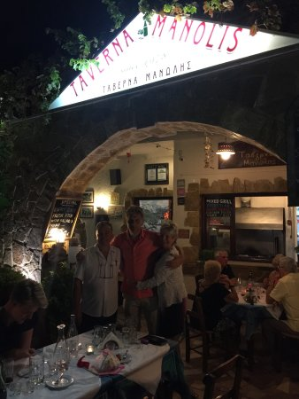 Manolis Taverna Restaurant: Manolis is one of the best Restaurants i've visitted in Greece. Nice people and good atmosphere