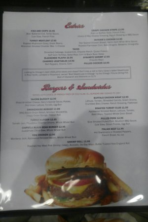 harry caray s tavern on navy pier lunch menu views from my table and my