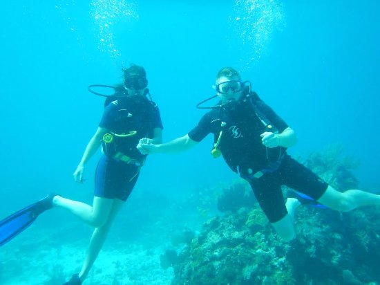 Carey Dive Center: Just hanging out on the ocean floor!
