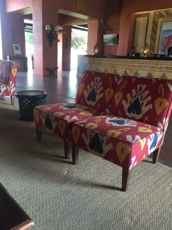 AVANI Victoria Falls Resort: Lobby seating area.