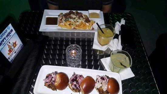 Icebar Orlando: Food Was Really Good Too. HAD some flavor to it