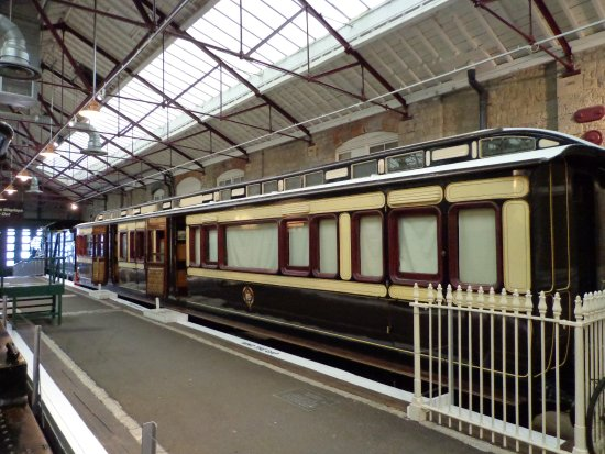 Swindon, UK : A classic GWR coach in the chocolate and cream livery