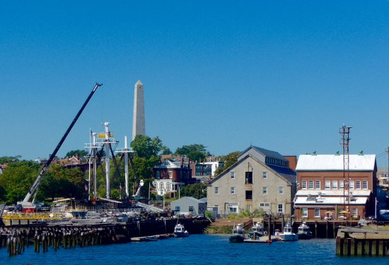CityView Trolley Tours: Charlestown naval dockyard from boat