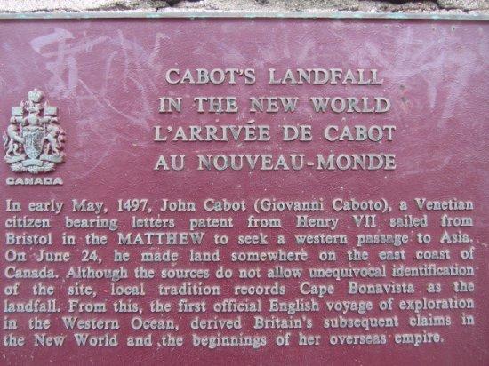 Bonavista, Kanada: found below the John Cabot statue
