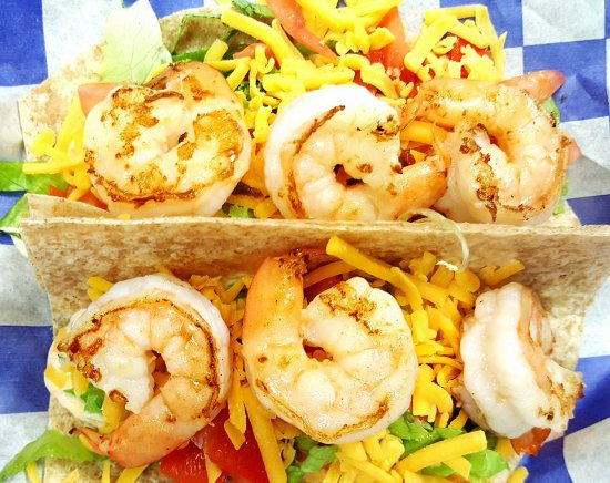 Monroe, Kuzey Carolina: Grilled Shrimp Tacos