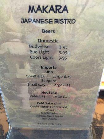 Oakdale, Californie : Makara Japanese Bistro