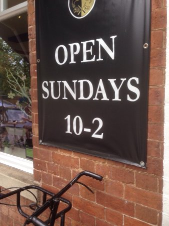 Colwall, UK: We are open Sunday 10-2pm