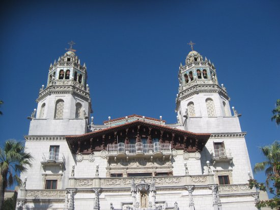 "Hearst Castle: ""Worm's eye view"" of castle"