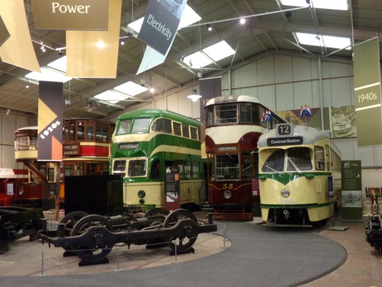 Matlock, UK: inside the tram museum