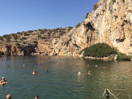 Marathon, Yunani: Lac de Vouliagmeni, cap Sounion