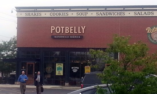 Des Plaines, IL: Entrance to Potbelly Sandwich Shop