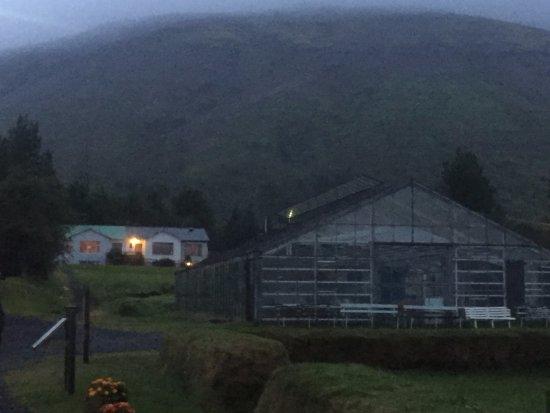 Laugarvatn, Islândia: Greenhouse outside restaurant