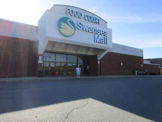 That is me standing in front of Swansea Mall.