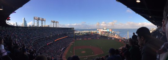 AT&T Park: Giants Stadium and a view of the Bay