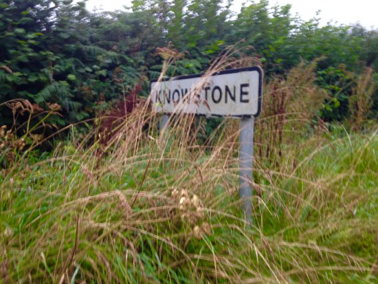 Walking into Knowstone.