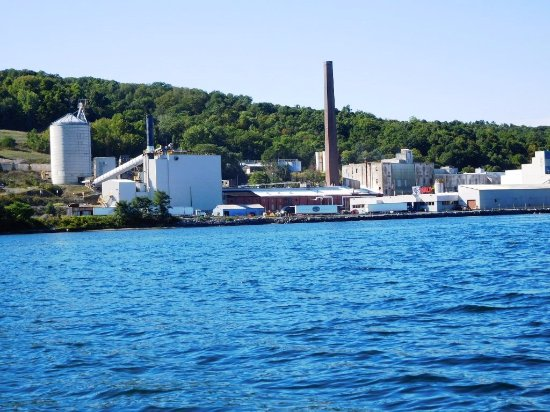 U.S. Salt LLC at Watkins Glen, seen from Seneca Lake