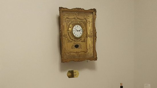 Hotel Stefanie: The antique clock that added dimension to the suite's decor.