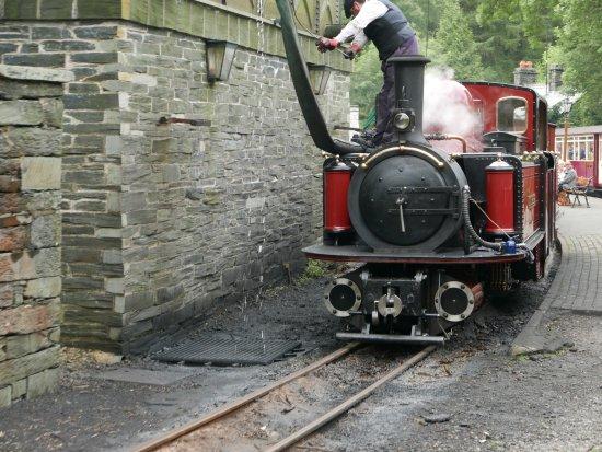 Porthmadog, UK: Steam Engine on the Highland Railway