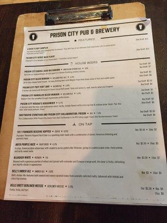 Auburn, État de New York : Drink Menu